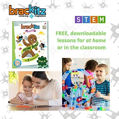 51THQLA2g7L. AC  - Brackitz Inventor STEM Discovery Building Toy for Kids Ages 3, 4, 5, 6+ Year Olds   Best Boys & Girls Educational Engineering Construction Kits   Creative Fun Learning Toys for Children   170 Pc Set