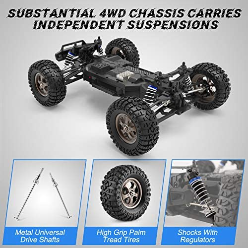 51TL4mL6c1L. AC  - Remote Control Car 1:12 Scale High Speed RC Cars 42KM/H 4X4 Off-Road Trucks 2995, All Terrain Electric Powered RC Vehicle RTR Hobby Grade 40+ Min Play, Remote Control Toy Trucks for Boys and Adults