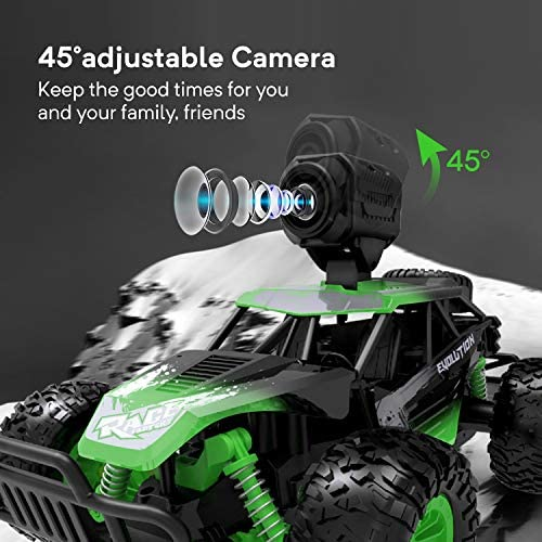 51Tpsjxby3L. AC  - Gizmovine Remote Control Car with Camera, High Speed Racing Off-Road RC Cars with 2 Rechargeable Batteries, Waterproof RC Monster Trucks Buggy Vehicle Electric Toy Cars for All Kids Boy