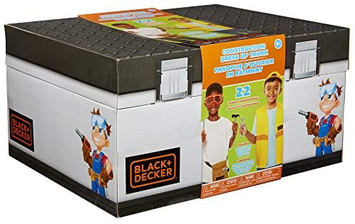 51U7u6npDEL. AC  - BLACK+DECKER Construction Dress Up Trunk for Kids with Fabric Role Play Costume Accessories, Realistic Toy Tools & Portable Kid-Sized Tool Box – 22 Piece Included (Amazon Exclusive)