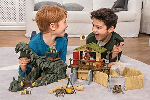 51VIFtLM+yL. AC  - Schleich Wild Life Crocodile Jungle Research Station with Jungle Animals 69-piece Playset for Kids Ages 3-8