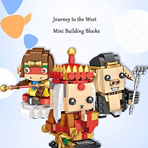 51WPXHUeUyL. AC  - LoveIyPet 4 in 1 Mini Journey to The West Character Dolls Building Blocks Set Micro Granule 3D Puzzle DIY Construction Toy for Kids Adults Gifts
