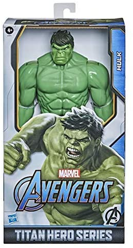 51WRadzzYbL. AC  - Avengers Marvel Titan Hero Series Blast Gear Deluxe Hulk Action Figure, 12-Inch Toy, Inspired by Marvel Comics, for Kids Ages 4 and Up
