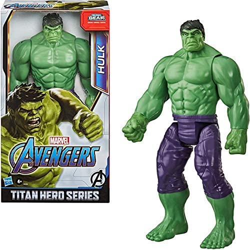 51XShO rKxL. AC  - Avengers Marvel Titan Hero Series Blast Gear Deluxe Hulk Action Figure, 12-Inch Toy, Inspired by Marvel Comics, for Kids Ages 4 and Up