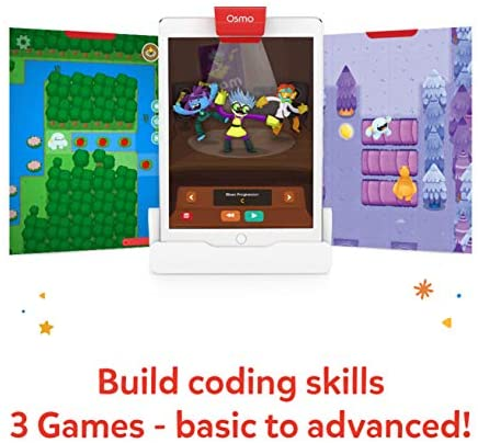 51Xx3Ul5vUL. AC  - Osmo - Coding Starter Kit for iPad - 3 Educational Learning Games - Ages 5-10+ - Learn to Code, Coding Basics & Coding Puzzles - STEM Toy (Osmo iPad Base Included)