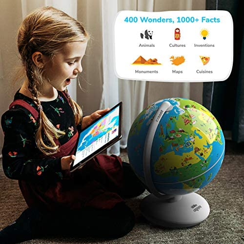 51Y2SDs277L. AC  - Shifu Orboot (App Based): Augmented Reality Interactive Globe For Kids, Stem Toy For Boys & Girls Ages 4+ Educational Toy Gift (No Borders, No Names On Globe)