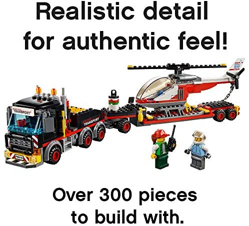 51YYfYK FGL. AC  - LEGO City Heavy Cargo Transport 60183 Toy Truck Building Kit with Trailer, Toy Helicopter and Construction Minifigures for Creative Play (310 Pieces) (Discontinued by Manufacturer)