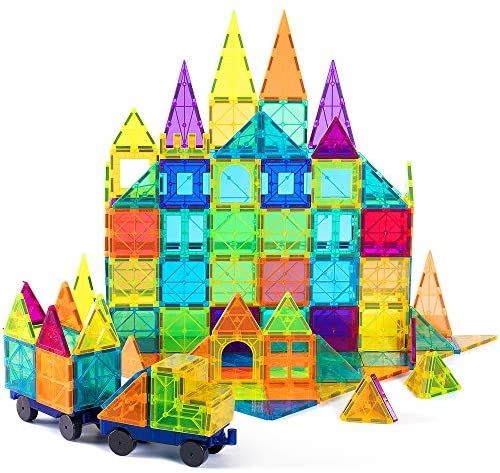 51Yqjusdd L. AC  - cossy Kids Magnet Toys Magnetic Tiles, 120 PCs Magnetic Building Blocks, Educational Toys for Kids Children with 2 Car Sets