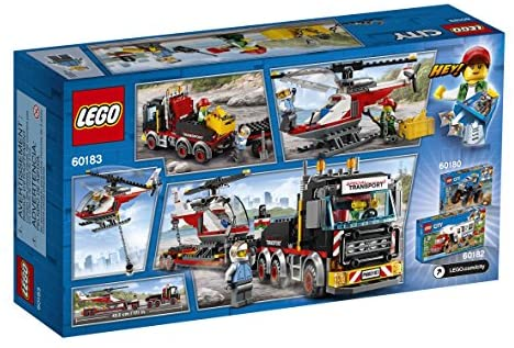 51ZMQpfRFsL. AC  - LEGO City Heavy Cargo Transport 60183 Toy Truck Building Kit with Trailer, Toy Helicopter and Construction Minifigures for Creative Play (310 Pieces) (Discontinued by Manufacturer)