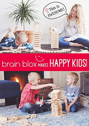 51abfZLscrL. AC  - Brain Blox Wooden Building Blocks for Kids - Building Planks Set, STEM Toy for Boys and Girls (300 Pieces)
