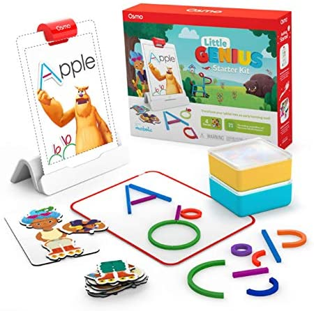 51bP0cryemL. AC  - Osmo - Little Genius Starter Kit for iPad - 4 Educational Learning Games - Ages 3-5 - Phonics & Creativity - STEM Toy (Osmo iPad Base Included)