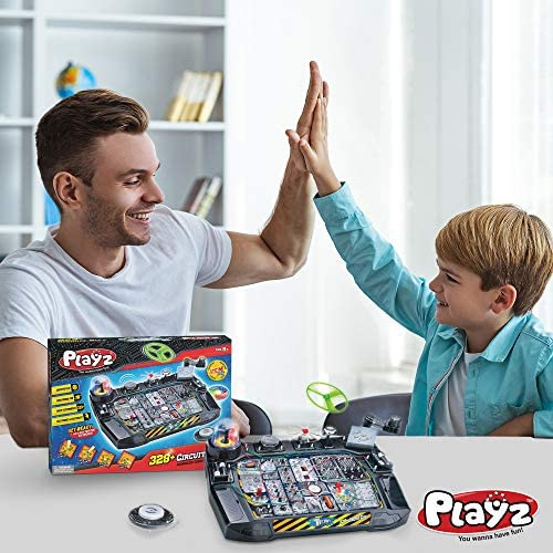 51bPlBUUKdL. AC  - Playz Advanced Electronic Circuit Board Engineering Toy for Kids   328+ Educational Experiments to Wire & Build Smart Connections Using Creative Knowledge of Electricity   Science Gift for Children