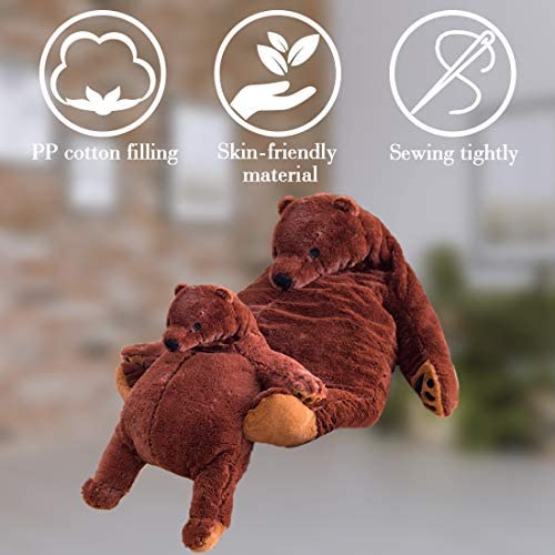 51cnsNV7WiL. AC  - Giant Simulation Bear Toy Plush Toy Pillow Soft Animal Stuffed Plush Doll Home Decor Birthday Gift (100CM/39.4IN)