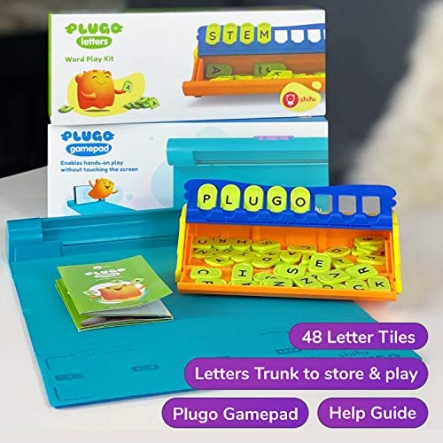 51cxb8IwcCL. AC  - Plugo Letters by PlayShifu - Word Building with Phonics, Stories, Puzzles | 5-10 Years Educational STEM Toy | Interactive Vocabulary Games | Boys & Girls Gift (App Based)