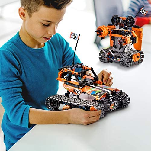 51dCcDYnGqL. AC  - OASO Remote Control STEM Building Kit for Boys 8-12, 392 Pcs Science Learning Educational Building Blocks for Kids, 3 in 1 Tracked Racer RC Car/Tank/Robot Toys Gift Sets for Boys Girls