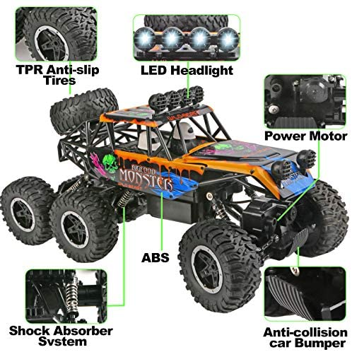 51dhBDx0STL. AC  - Remote Control Car for Boys - RC Trucks Off Road Car for Kids - Large 1:12 Scale RC Monster Car High Speed 6WD All Terrain Controlled Vehicle Crawler - RC Drift Cars Toys - Gifts for Kids/Boys Girls