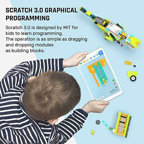 51eOj3M9+uL. AC  - WOOLIKE Robot Kit 100+ in 1 Robot Toys,STEM Educational Coding Science Kits for Kids ,APP Remote Control Building Robot Kit for Boys and Girls Age 6+ Years Old