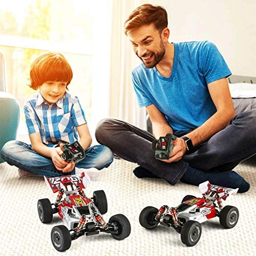 51eqIJKRYHL. AC  - Remote Control Car,60+ KMH 1:14 Scale WLtoys 144001 Fast RC Cars for Adults Kids,4WD Off Road Buggy Racing Car with 2 Batteries Gifts for Boys (Red)