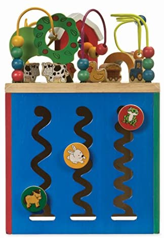 51ft7jKef5L. AC  - Battat – Wooden Activity Cube – Discover Farm Animals Activity Center for Kids 1 year +