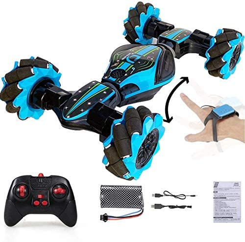 51g c5Ke46L. AC  - Remote Control Stunt Toy Car,Twisting Off-Road Vehicle,360 Degree Flip Double Sided Rotating Race Car,2.4G Gesture Sensing with Four-Wheel Drive,Best Gift for Kids and Adults.(Blue