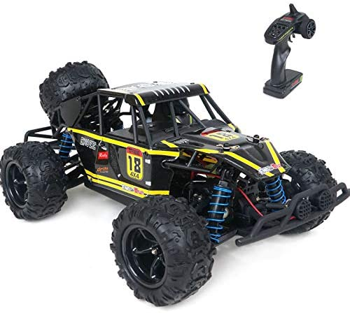 51gEfQKpXxL. AC  - WOWRC Remote Control Car 1:18 RC Trucks, 2.4Ghz 4WD Off Road Rock Crawler Vehicle High Speed Racing All Terrains Rechargeable Electric Toy for Boys & Girls Gifts