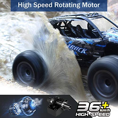 51gIAs47AUL. AC  - Fistone RC Truck 1/16 High Speed Racing Car , 24MPH 4WD Off-Road Waterproof Vehicle 2.4Ghz Radio Remote Control Monster Truck Dune Buggy Hobby Toys for Kids and Adults