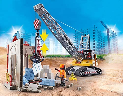 51hJJ3tyC2L. AC  - Playmobil Cable Excavator with Building Section