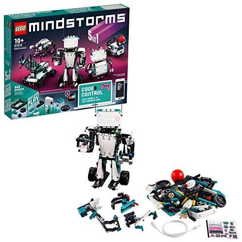 51hk5Vzj5GL. AC  - LEGO MINDSTORMS Robot Inventor Building Set 51515; STEM Model Robot Toy for Creative Kids with Remote Control Model Robots; Inspiring Code and Control Edutainment Fun, New 2020 (949 Pieces)