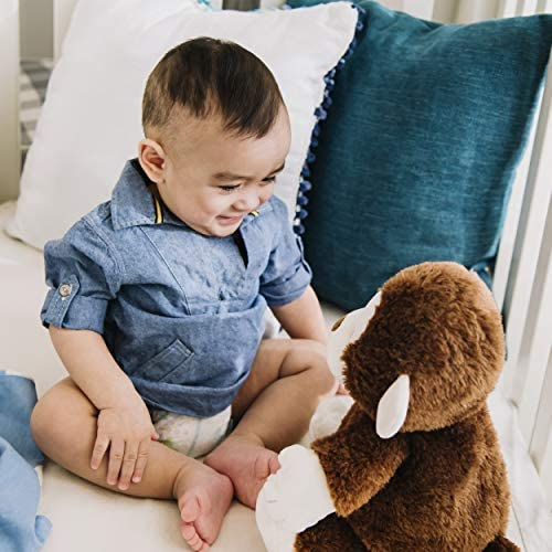 """51iTjXN14ML. AC  - Baby GUND Animated Clappy Monkey Singing and Clapping Plush Stuffed Animal, Brown, 12"""""""