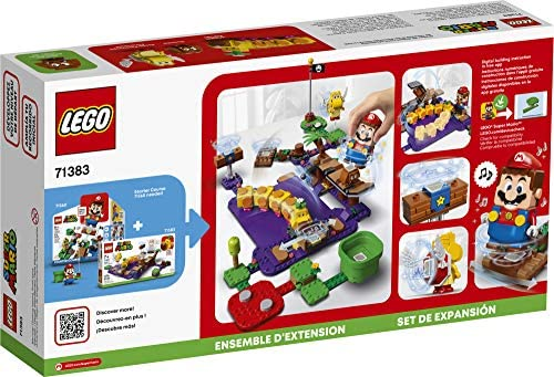 51iZAGq+YXL. AC  - LEGO Super Mario Wiggler's Poison Swamp Expansion Set 71383 Building Kit; Unique Gift Toy Playset for Creative Kids, New 2021 (374 Pieces)