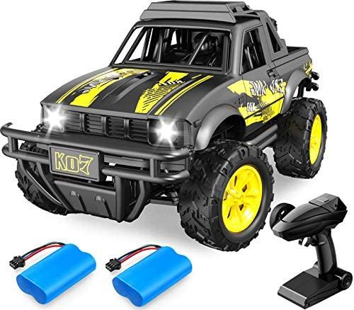 51ipbCWEDRL. AC  - Remote Control Jeep Dodoeleph 4X4 1:16 Large Off-Road Monster RC Trucks, 70Min Play 2.4GHz All Terrain Rock Cralwer with LED Light, High Speed Electric Vehicle Car Toy for Boys Kids