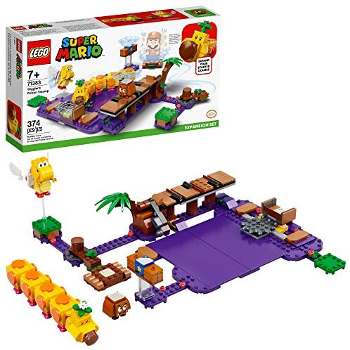 51j2NDHHcaL. AC  - LEGO Super Mario Wiggler's Poison Swamp Expansion Set 71383 Building Kit; Unique Gift Toy Playset for Creative Kids, New 2021 (374 Pieces)