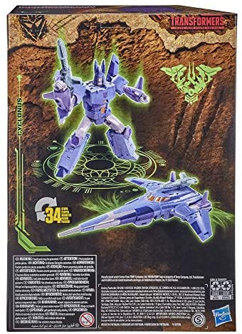 51jSUpI7VJL. AC  - Transformers Toys Generations War for Cybertron: Kingdom Voyager WFC-K9 Cyclonus Action Figure - Kids Ages 8 and Up, 7-inch