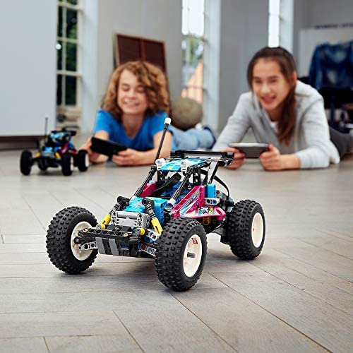 51jbA25y5sL. AC  - LEGO Technic Off-Road Buggy 42124 Model Building Kit; App-Controlled Retro RC Buggy Toy for Kids, New 2021 (374 Pieces)