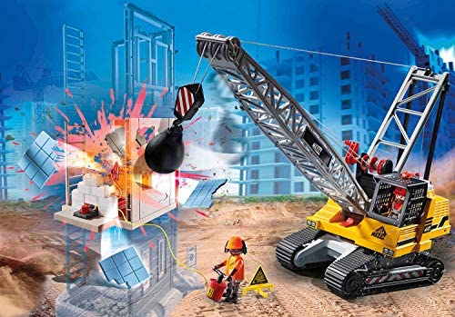 51jkDpwZxyL. AC  - Playmobil Cable Excavator with Building Section