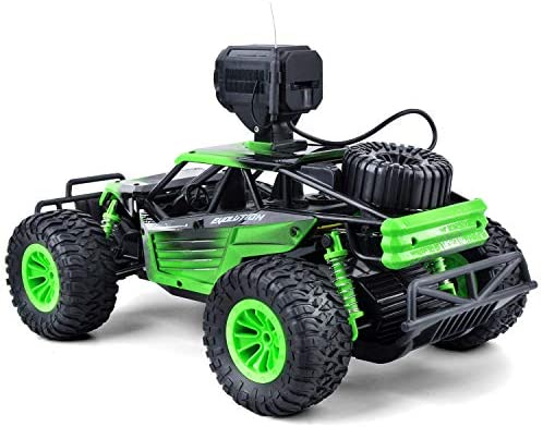 51jpm8c7olL. AC  - Gizmovine Remote Control Car with Camera, High Speed Racing Off-Road RC Cars with 2 Rechargeable Batteries, Waterproof RC Monster Trucks Buggy Vehicle Electric Toy Cars for All Kids Boy