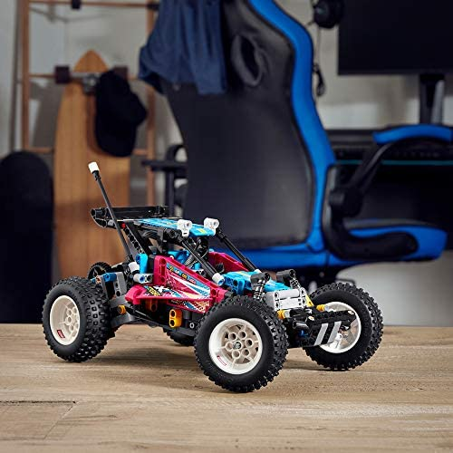 51ll5o15SXL. AC  - LEGO Technic Off-Road Buggy 42124 Model Building Kit; App-Controlled Retro RC Buggy Toy for Kids, New 2021 (374 Pieces)