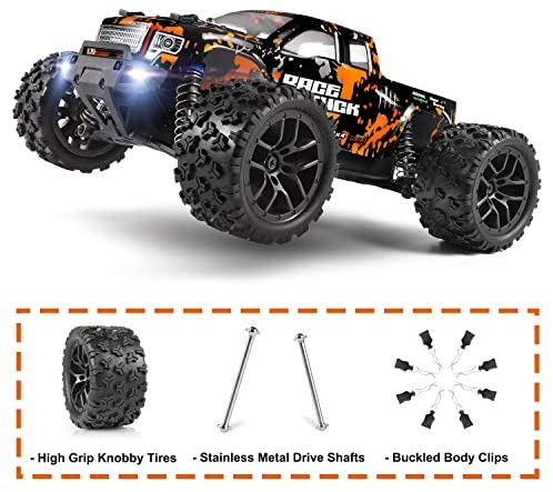 51mpcq3syTL. AC  - 1:18 Scale RC Monster Truck 18859E 36km/h Speed 4X4 Off Road Remote Control Truck,Waterproof Electric Powered RC Cars All Terrain Toys Vehicles with 2 Batteries,Excellent Xmas Gifts for kid and Adults