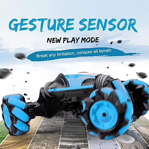 51oGuOzhJmL. AC  - GoolRC RC Stunt Car, 4WD 2.4GHz Remote Control Car, Deformable All-Terrain Off Road Car, 360 Degree Flips Double Sided Rotating Race Car with Gesture Sensor Watch Lights Music for Kids (Blue)