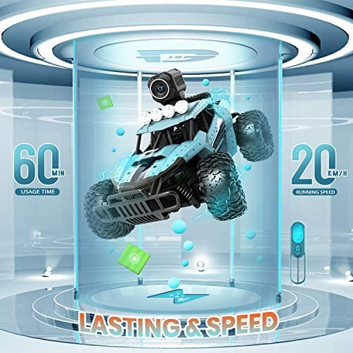 51oTCD7zCBL. AC  - DEERC RC Cars DE36W Remote Control Car with 720P HD FPV Camera, 1/16 Scale Off-Road Remote Control Truck, High Speed Monster Trucks for Kids Adults 2 Batteries for 60 Min Play, Gift for Boys and Girls