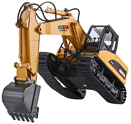 51qKyjFnb2L. AC  - TEMA1985 Remote Control Excavator Toys with Metal Shovel 15 Channel Full Functional RC Construction Vehicles with Lights & Sound 2.4Ghz RC Excavator Toys for Boys