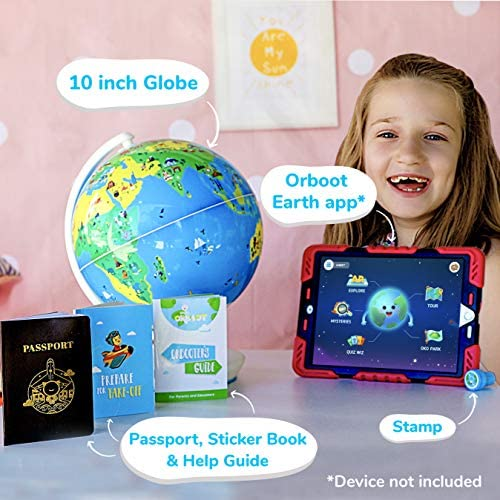 51qxVPvRq L. AC  - Shifu Orboot (App Based): Augmented Reality Interactive Globe For Kids, Stem Toy For Boys & Girls Ages 4+ Educational Toy Gift (No Borders, No Names On Globe)