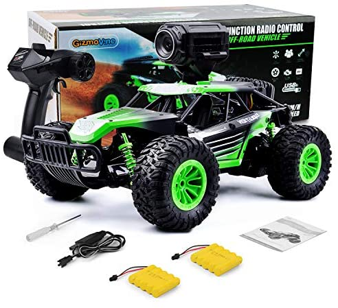 51svCK4krGL. AC  - Gizmovine Remote Control Car with Camera, High Speed Racing Off-Road RC Cars with 2 Rechargeable Batteries, Waterproof RC Monster Trucks Buggy Vehicle Electric Toy Cars for All Kids Boy