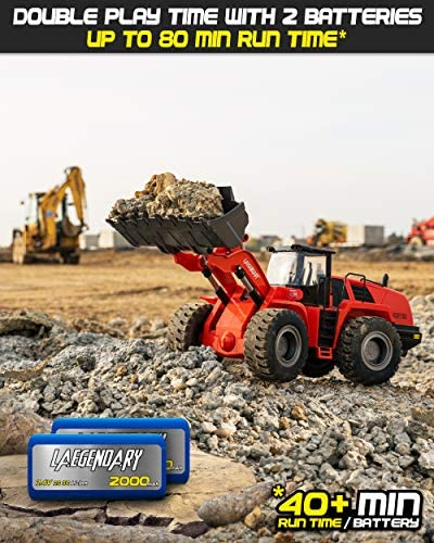 51t2SH++kbL. AC  - 1:14 Scale 22 Channel Full Functional Remote Control Front Loader Construction Tractor, Full Metal Bulldozer Toy Can Dig up to 7Lbs
