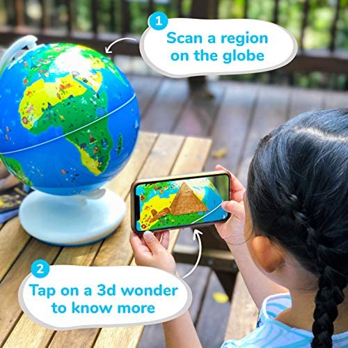 51u7FgpMsHL. AC  - Shifu Orboot (App Based): Augmented Reality Interactive Globe For Kids, Stem Toy For Boys & Girls Ages 4+ Educational Toy Gift (No Borders, No Names On Globe)