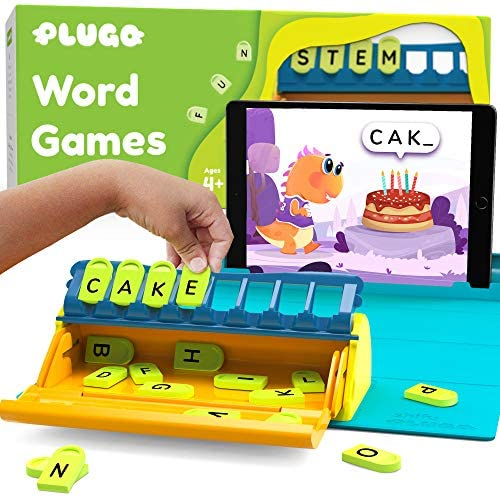 51uTrkm3PGL. AC  - Plugo Letters by PlayShifu - Word Building with Phonics, Stories, Puzzles | 5-10 Years Educational STEM Toy | Interactive Vocabulary Games | Boys & Girls Gift (App Based)