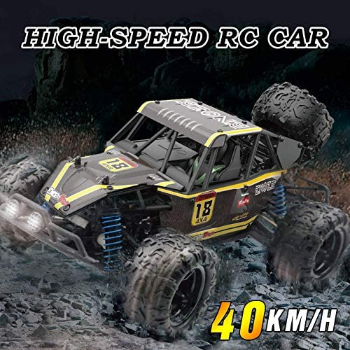 51v5IiU8qdL. AC  - WOWRC Remote Control Car 1:18 RC Trucks, 2.4Ghz 4WD Off Road Rock Crawler Vehicle High Speed Racing All Terrains Rechargeable Electric Toy for Boys & Girls Gifts