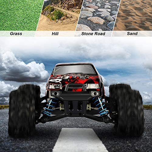 51v7y730mKL. AC  - Remote Control Car,1:18 Scale RC Racing High Speed Car,4WD All Terrains Waterproof Drift Off-Road Vehicle,2.4GHz RC Road Monster Truck Included 2 Rechargeable Batteries,Toy for Boys Teens Adults