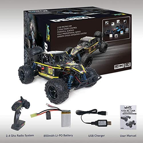51wEphNdCzL. AC  - WOWRC Remote Control Car 1:18 RC Trucks, 2.4Ghz 4WD Off Road Rock Crawler Vehicle High Speed Racing All Terrains Rechargeable Electric Toy for Boys & Girls Gifts