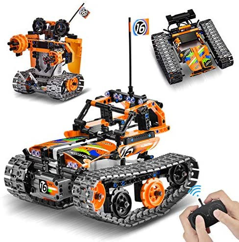 51wH9rRmsIL. AC  - OASO Remote Control STEM Building Kit for Boys 8-12, 392 Pcs Science Learning Educational Building Blocks for Kids, 3 in 1 Tracked Racer RC Car/Tank/Robot Toys Gift Sets for Boys Girls